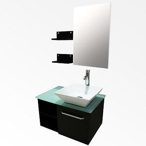 28 bathroom vanity cabinet ceramic sink bowl modern design w mirror