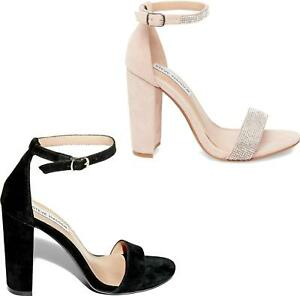 6bf48081dc6 Image is loading Steve-Madden-CARSON-Ladies-Womens-Suede-Diamante-Block-