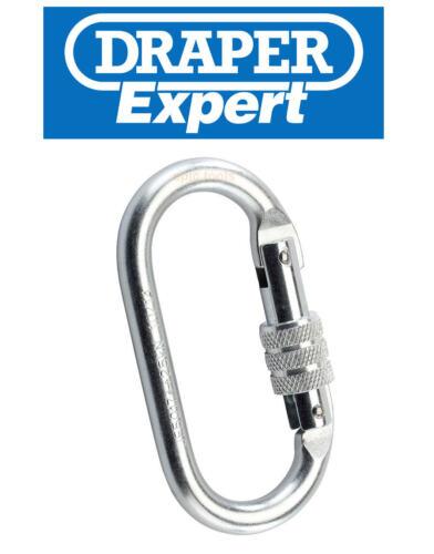 DRAPER Expert Steel Screw Gate Climbing Safety Harness Carabiner//Karabiner,82472