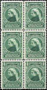 Mint-NH-Canada-Newfoundland-1897-VF-Scott-61-Block-of-6-Stamps