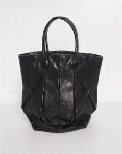 64cc815771de Image is loading BOTTEGA-VENETA-Black-Leather-Snakeskin-Origami-Round-Bucket -