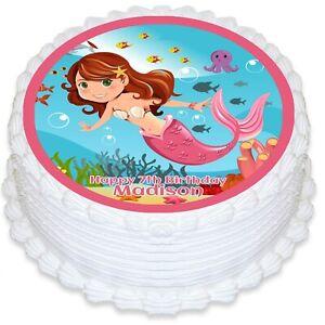 H2O A4 Edible Icing Cake Topper