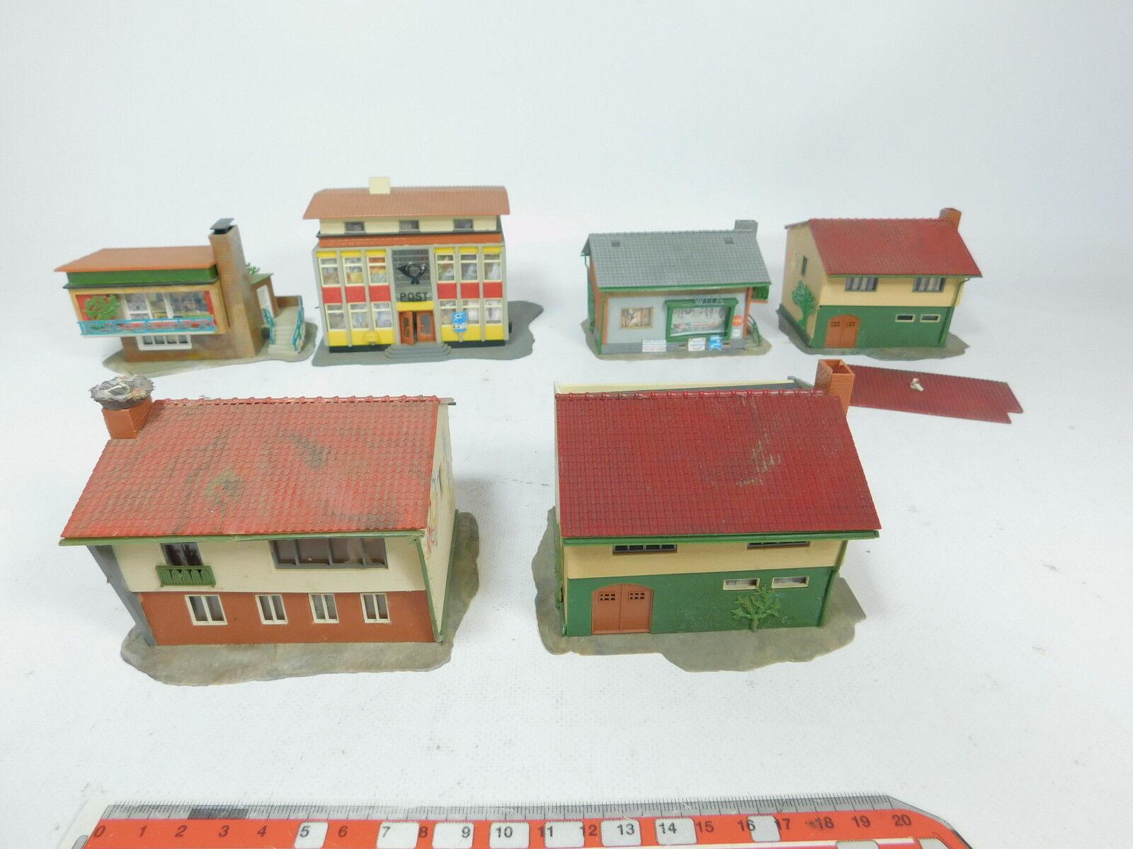 AZ7672 6x Ftuttier Ecc. H0 modellololo  Casa di Abitazione  Efh  Blocco Uffici