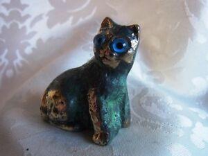 Bronze-Figur-Katze-cat-mit-antiker-Patina-327-7