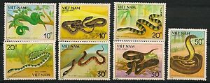 VIETNAM-1989-MiNr-2029-2035-SNAKE-SCHLANGE-FAUNA-FLORA-REPTIL
