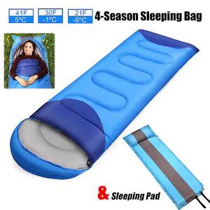 Waterproof-Sleeping-Bag-Compact-Camping-Backpacking-Cold-Weather-w-Sleeping-Pad