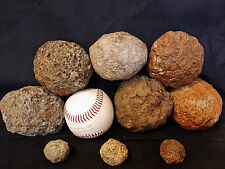 Keokuk Geodes 6 LARGE Baseball Size Break Your Own Raw Geode Quartz Crystal Iowa