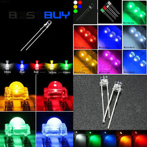 LED-Round-Straw-Hat-Flat-Rectangle-Piranha-3-10mm-Emitting-Diodes-colourful-BBC