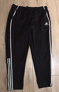 Details about Adidas Men's Black Jogging Trousers 4042 Medium M Zip Pocket Ankle 30L