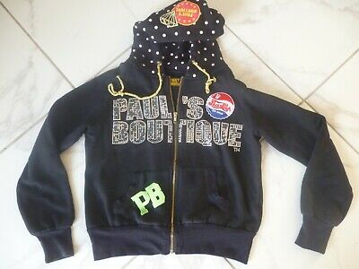 Clothing, Shoes & Accessories Activewear Alert Designer Hoody By Pauls Boutique Black/diamante Uk M Fit Size 10 Ture 100% Guarantee