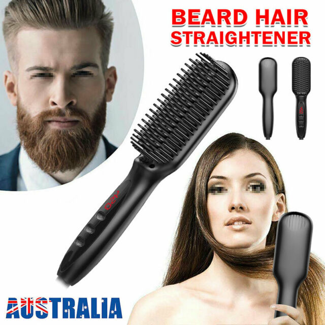 Quick Beard Straightener Multifunctional Hair Comb Curling Curler For Man