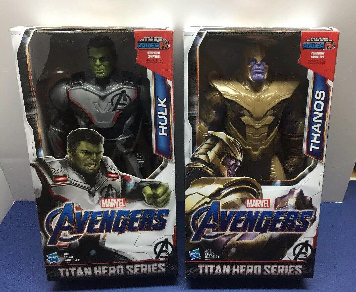 TITAN hero serie Lote De Juego Final Marvel Vengadores Figura Thanos 12  Hulk 12