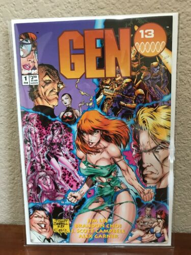 Gen 13 #1 Limited Series Image, 1994 White Pages, VFNM J Scott Campbell