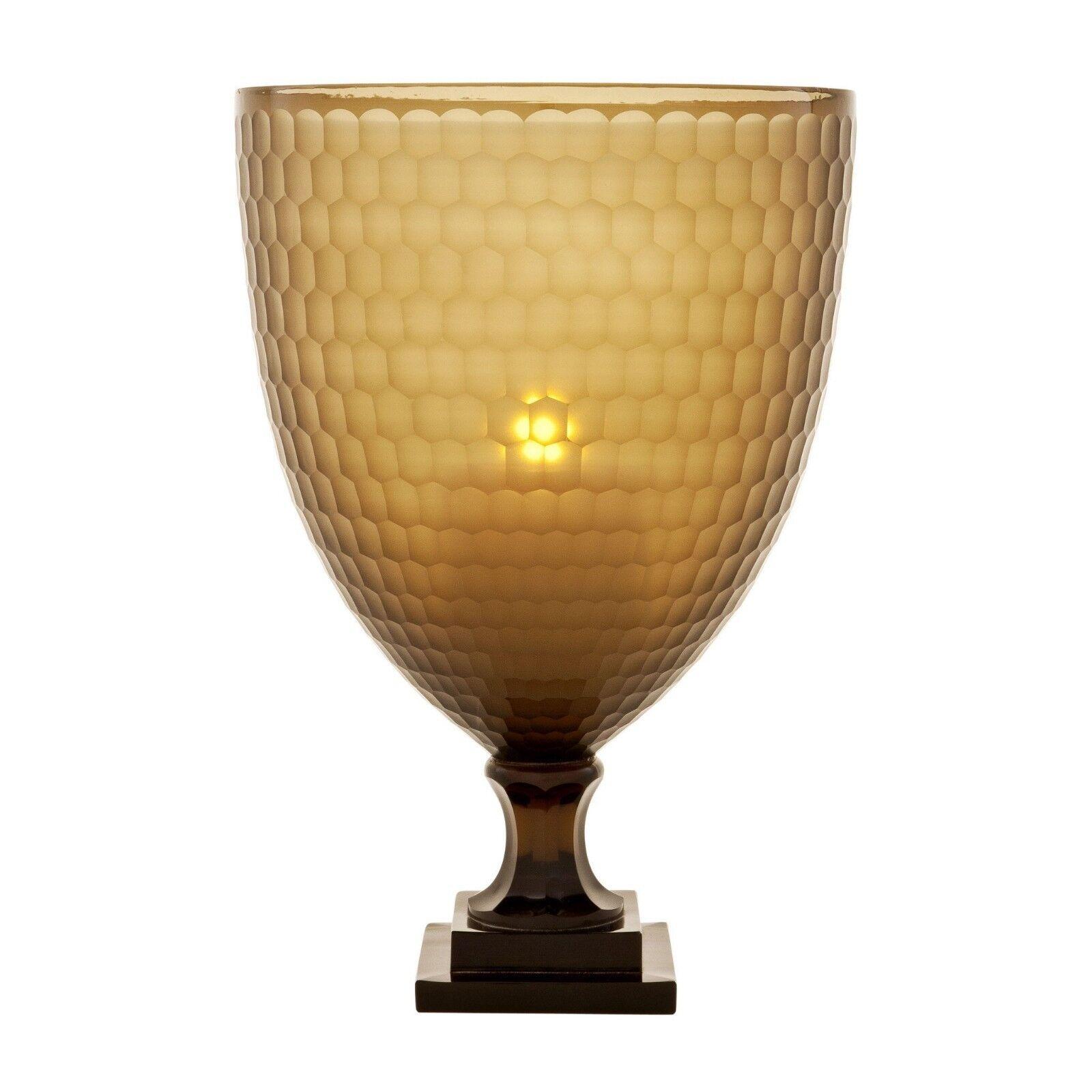 Beautiful Large Eichholtz braun Hurricane Candle Holder   Vase