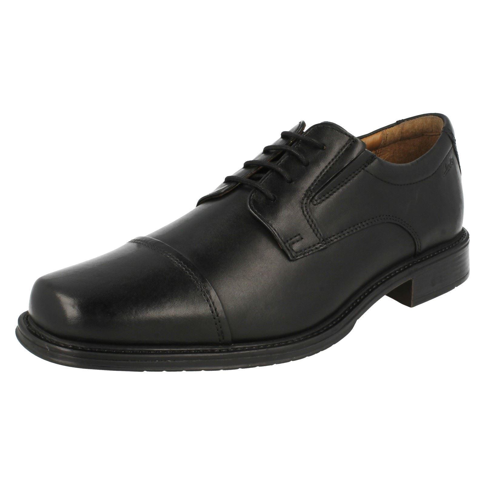 Herren Clarks Leder Smart schnürbar Büro formelle Zehenkappe Schuh Größe Driggs