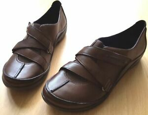 Clarks-UnStructured-Slip-On-Ladies-Brown-Leather-Shoes-UK-6-5-EU-40