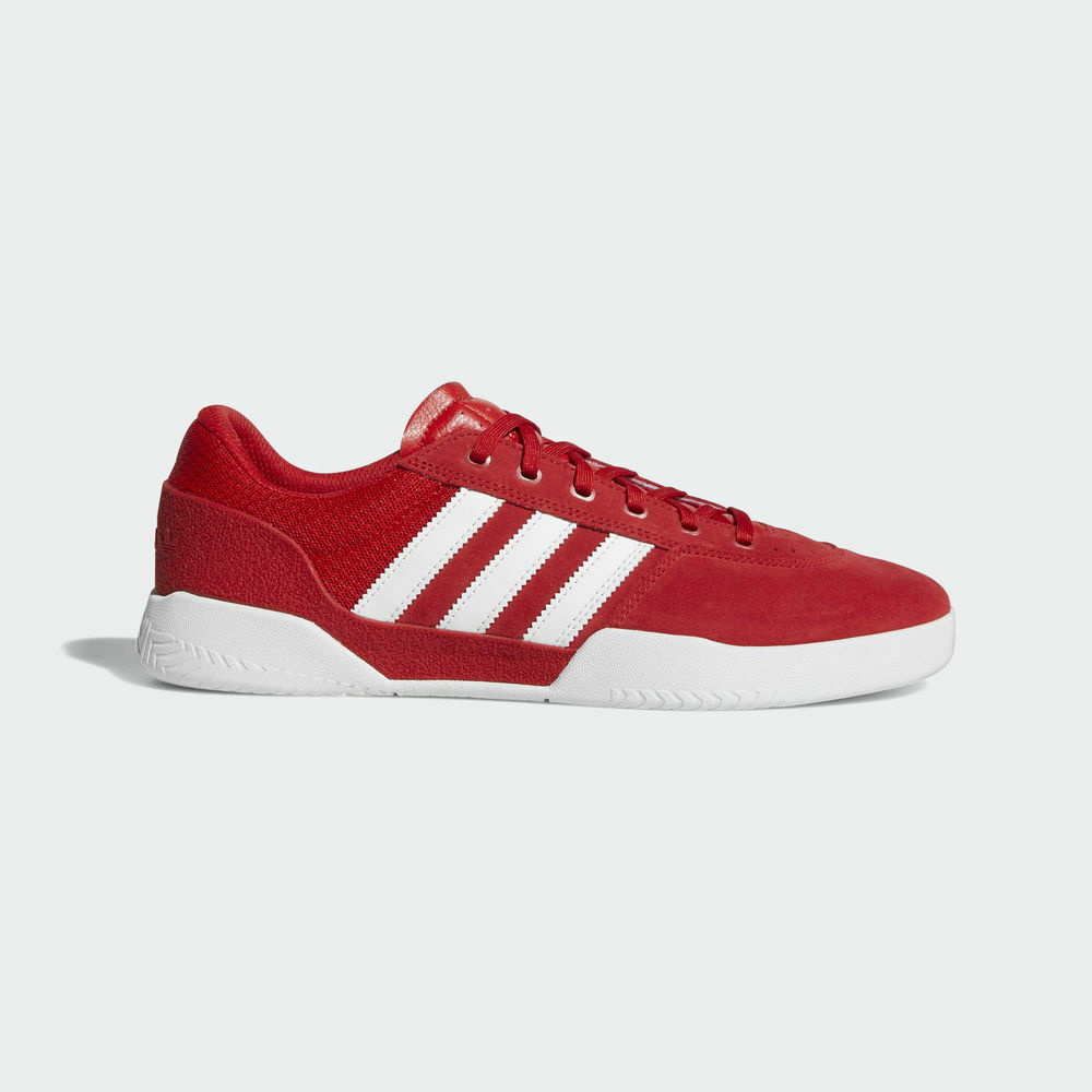 Adidas - City Cup | Uomo Skate Shoes - B22722 | Red / White