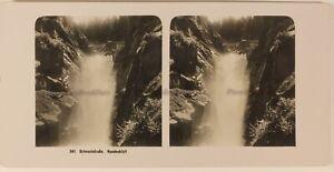 Suisse Grindelwald Cascade c1905 Foto Stereo Vintage Analogica
