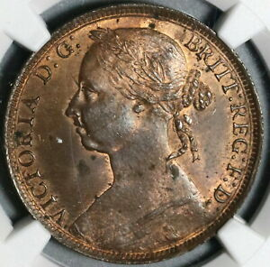 1891-NGC-MS-63-Victoria-Penny-Great-Britain-RB-Mint-State-Coin-20070302C