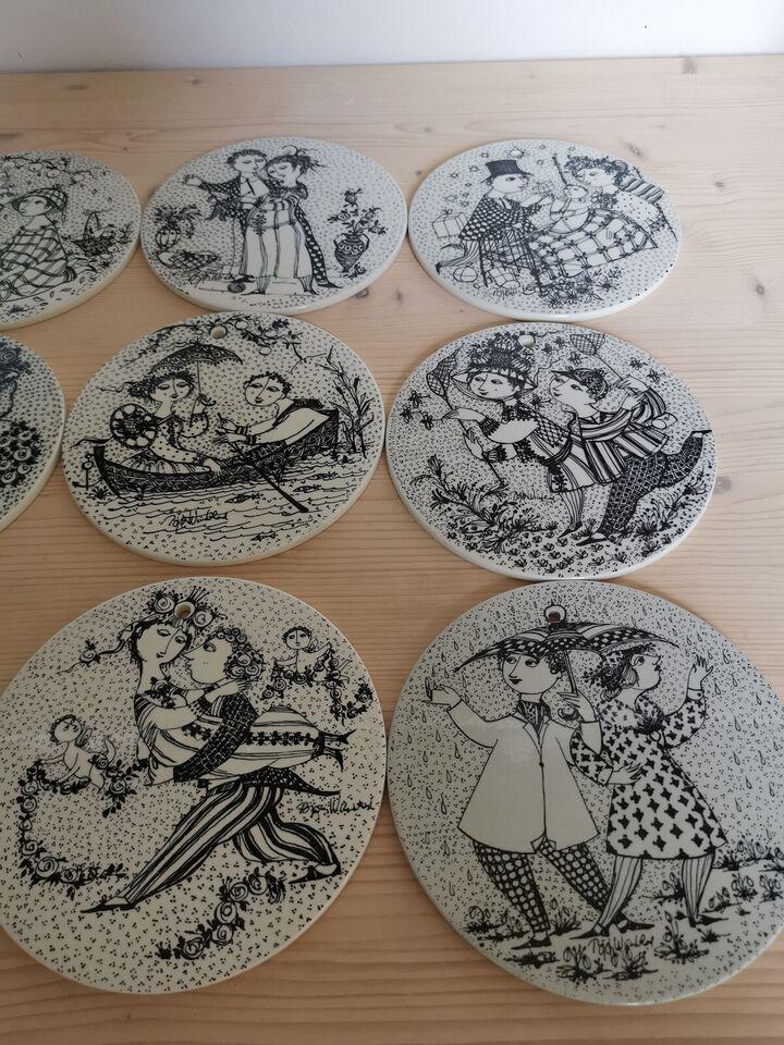 Porcelæn, Platter, Wiinblad