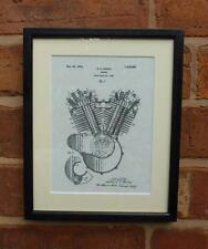 USA Patent Drawing HARLEY DAVIDSON MOTORCYCLE ENGINE MOUNTED PRINT 1919 Gift