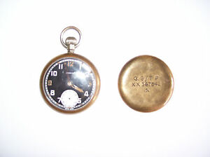 RARE-VINTAGE-WWII-DAMAS-MILITARY-POCKET-WATCH-GC-Cheap-Bargain