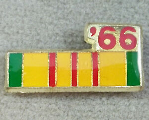 VIETNAM SERVICE RIBBON 1966 HAT//LAPEL PIN
