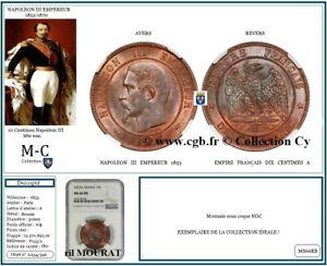 FRANCE-AA54-NAPOLEON-III-10-Centimes-1853-A-PARIS-tete-nue