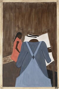 Jacob Lawrence Giclee Canvas Print Paintings Poster Reproduction Copy fine art