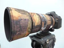 Nikon 70 200mm f4 VR Neoprene lens protection camouflage coat cover :English Oak