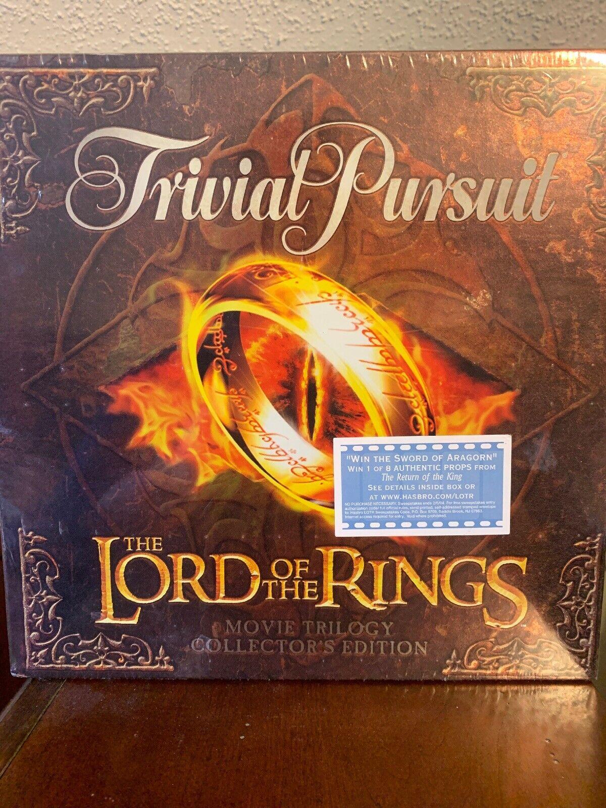 2003 sellado el señor de los anillos trilogía de películas Trivial Pursuit Edición De Coleccionistas