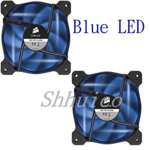 2 Piece Cool Corsair Air Series AF120 LED Quiet Edition High Airflow Fan Blue