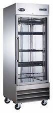 Saba Stainless Steel Glass Door Commercial Reach In Refrigerator
