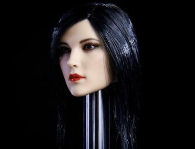 1//6 Female Head Sculpt BLACK STRAIGHT Hair GC020 A for 12/'/' Female Figure PHICEN