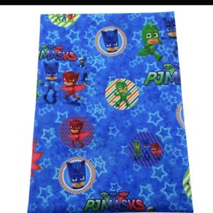 Polycotton blue PJ Fabric  1m x 1.45m