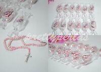 18 Baptism Party Favors Pink Rosary Candy Recuerdos De Bautizo Roario Bautismo