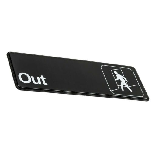 9 x 3-inches In Out Door Signs In Out Signs Set of 2 Black and White