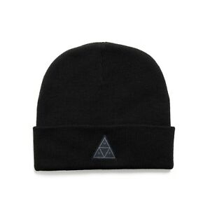 HUF TRIPLE TRIANGLE LOGO BEANIE BLACK