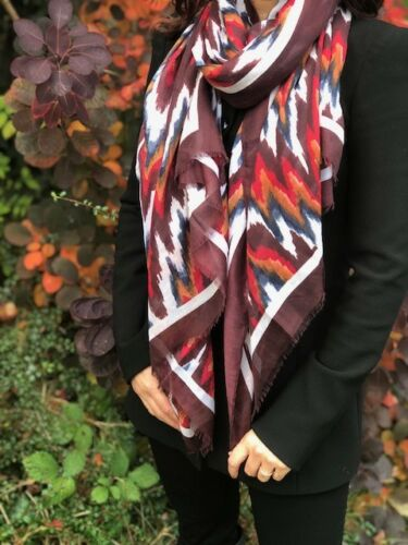 Ladies Stripey Striped Scarf Multi Colour Colourful Wrap Shawl Sarong Long Large