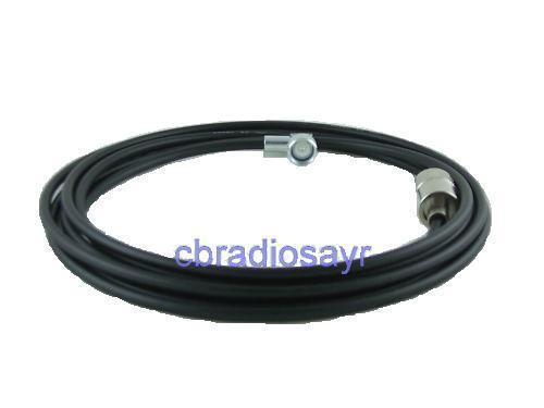 4m DV Lead fitted with DV Base Plug & PL259 Plug CB Radio Antenna Aerial Cable