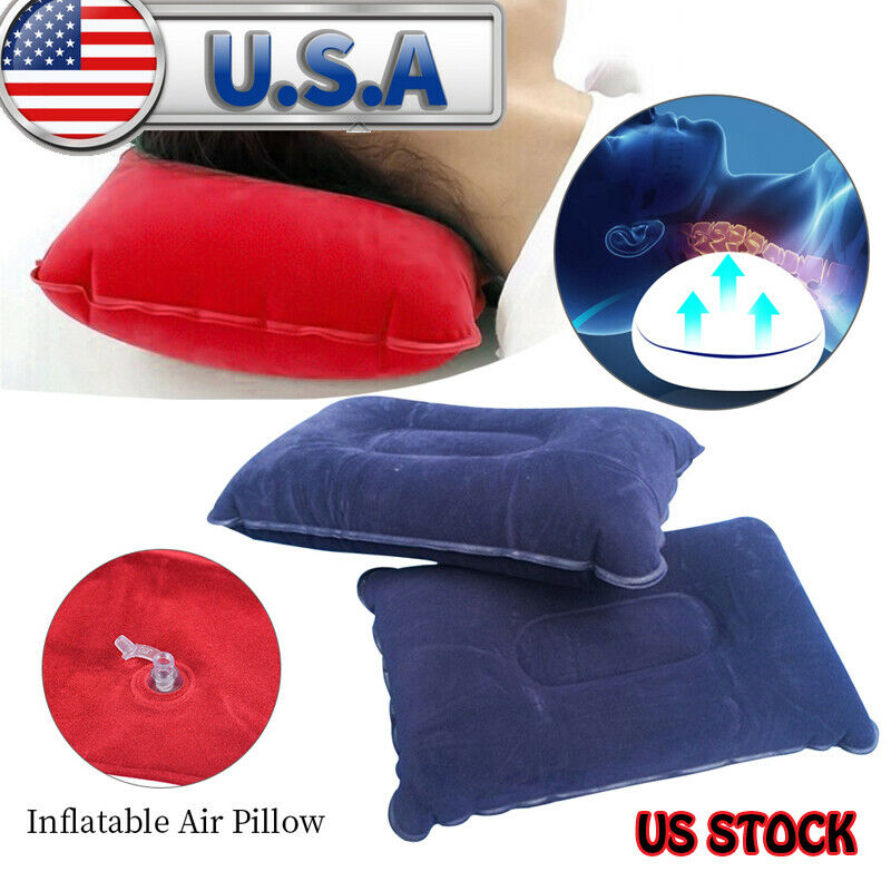 Travel Outdoor Inflatable Air Pillow Comfortable Cushion Protect Head ... - s l1600