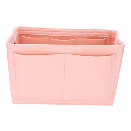 Multi-Pocket Insert Bag Felt Fabric Purse Handbag Bag Liner Tote Organizer S//M//L