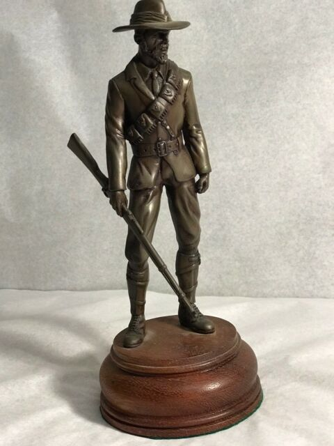 Vintage Western Cowboy Resin Figure With Stand 23cm Made In South Africa