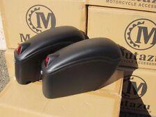 Mutazu Matte Black Universal FY Hard Saddlebags for Harley Honda Suzuki Kawasaki