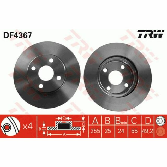 Bremsscheiben 2 Stück vorne Vorderachse original TRW DF4403