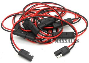 5 12 gauge 2 pin quick disconnect wire harness sae connectors ebay rh ebay com Step-Thru Harness Martingale Harness