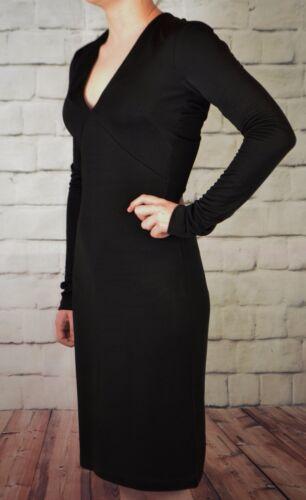 H/&M NEW BLACK LONG SLEEVED BODYCON DRESS