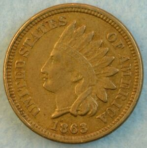 1863-Indian-Head-Cent-Copper-Nickel-Penny-Very-Old-Coin-Fast-S-amp-H-428