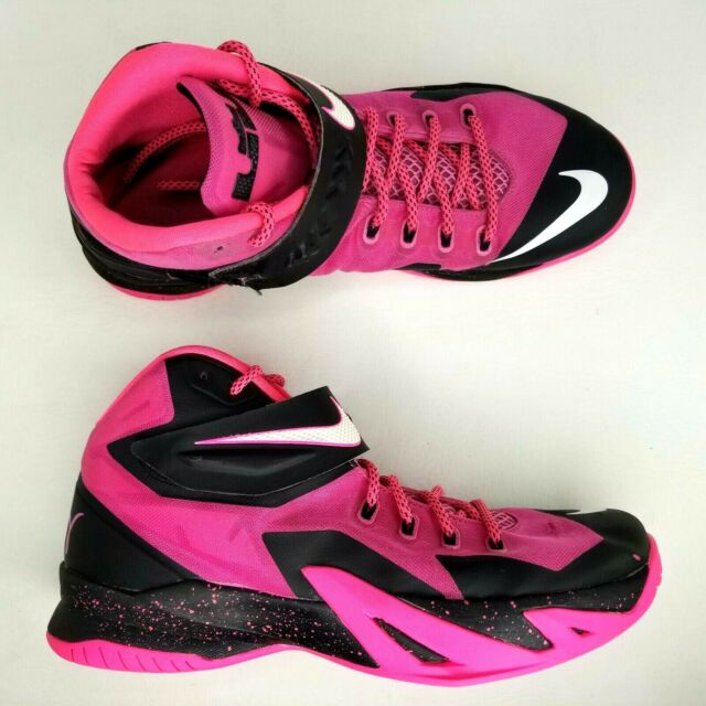 quality design 0f678 c5295 Nike Lebron Soldier VIII 8 Basketball Shoes Mens SZ 11 Breast Cancer  Awareness