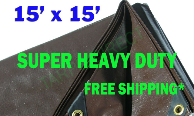 20 Ft Heavy Duty 6 Oz X 20 Ft BLACK Poly Tarp 11-12 Mil Thick